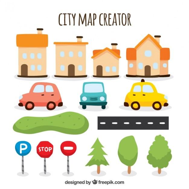 Fantastica selezione di oggetti per creare una mappa della for Creare una piantina della casa