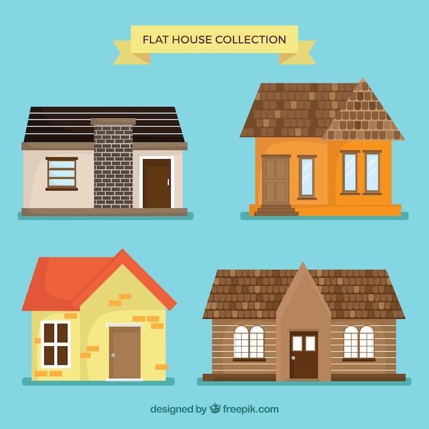 Fantastiche case con fantastiche idee Vettore gratuito