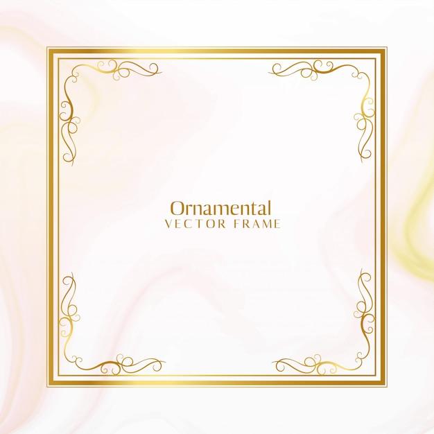 Fantastico design del telaio ornamentale dorato Vettore gratuito