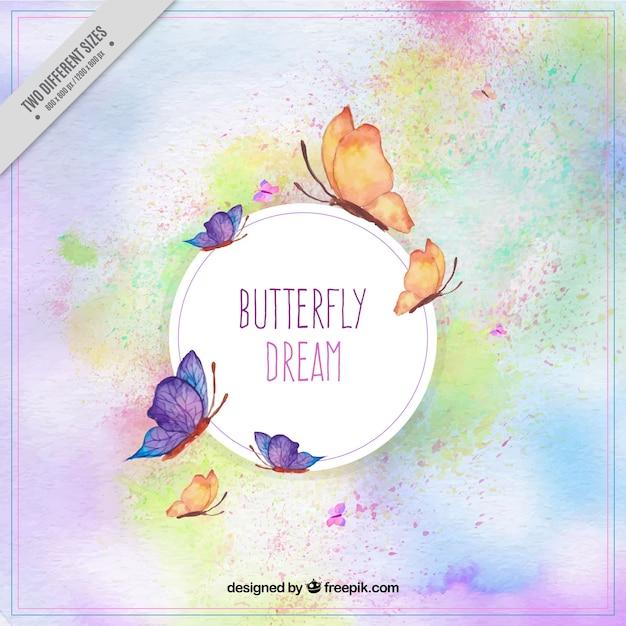 Fantastico sfondo di farfalle dipinte con acquarello for Sfondi con farfalle