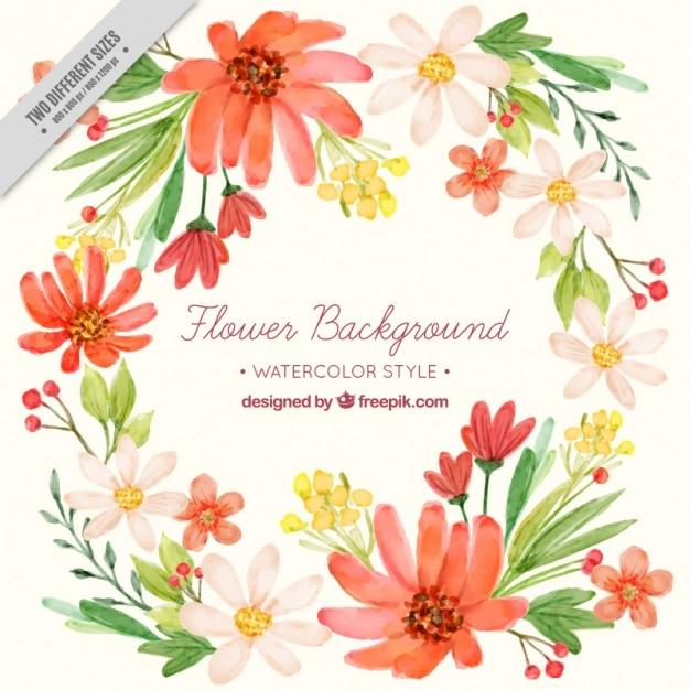Fantastico sfondo di fiori dipinti con acquarello for Immagini di fiori dipinti