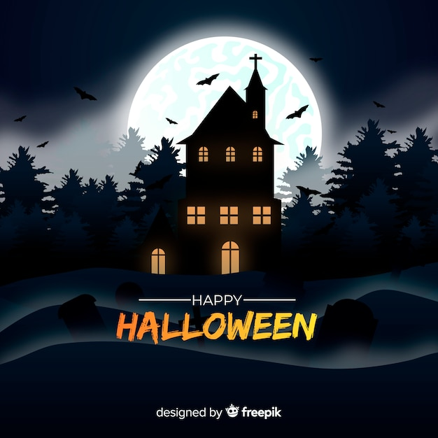 Fantastico sfondo di halloween con un design realistico Vettore gratuito