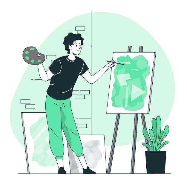Fare illustrazione del concetto di arte Vettore gratuito