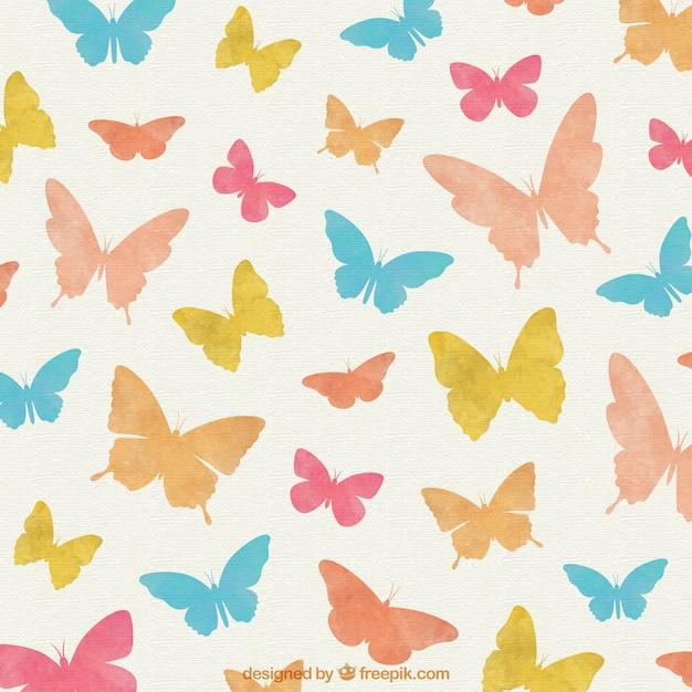 Farfalle colorate sfondo scaricare vettori gratis for Sfondi con farfalle