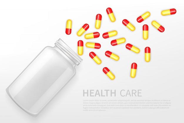 Farmacia, banner pubblicitario di vettore di servizio sanitario Vettore gratuito