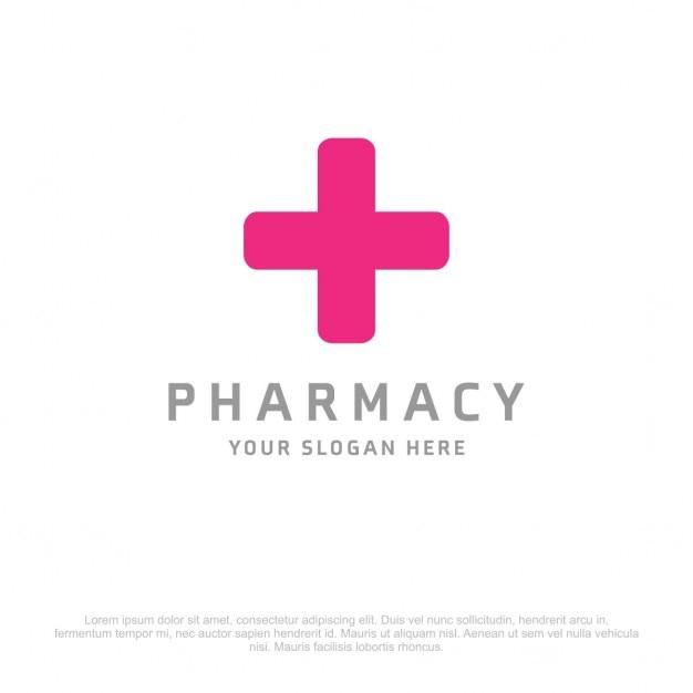 Farmacia inoltre logo Vettore gratuito