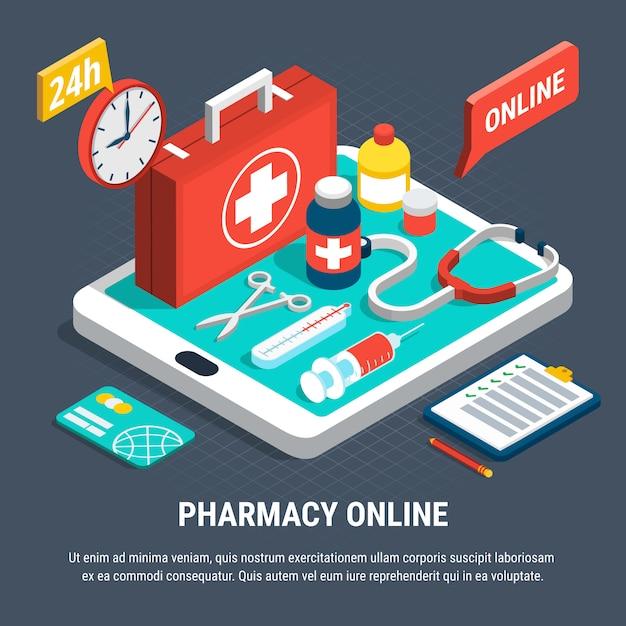Farmacia online Vettore gratuito