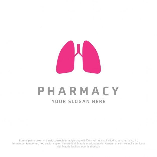 Farmacia polmoni logo Vettore gratuito