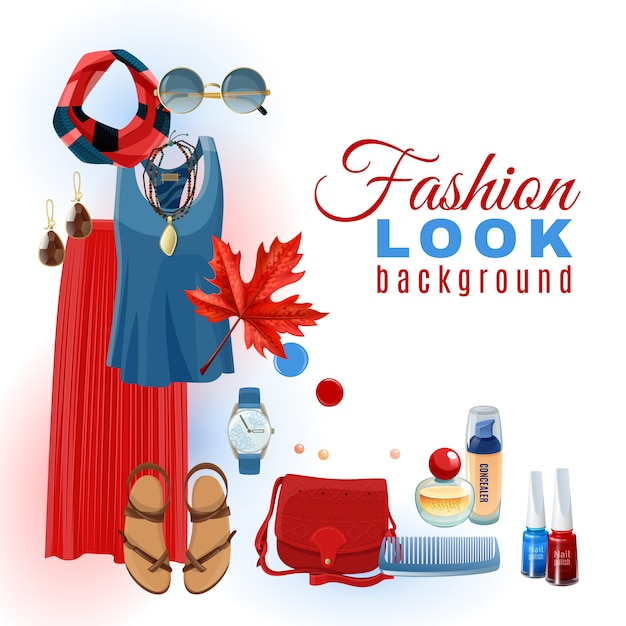 Fashion look background Vettore gratuito