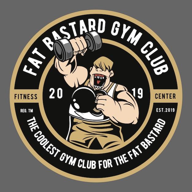 Fat bastard gym club Vettore Premium
