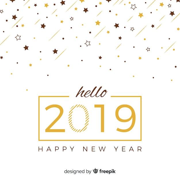 Felice anno nuovo 2019 Vettore gratuito