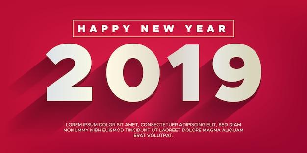 Felice anno nuovo sfondo 2019 Vettore Premium