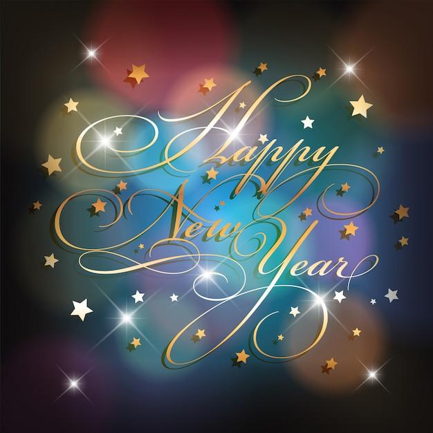 Felice anno nuovo sfondo Vettore gratuito