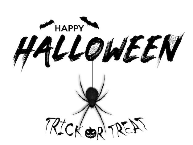 Felice banner di testo di halloween. Vettore Premium