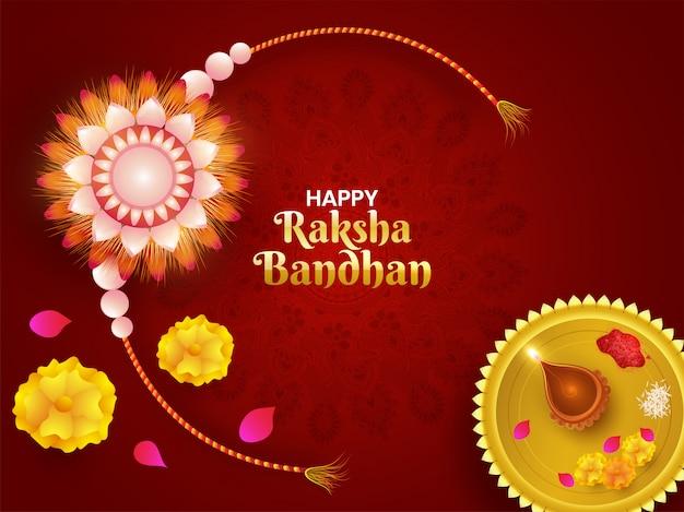 Felice celebrazione di raksha bandhan. Vettore Premium