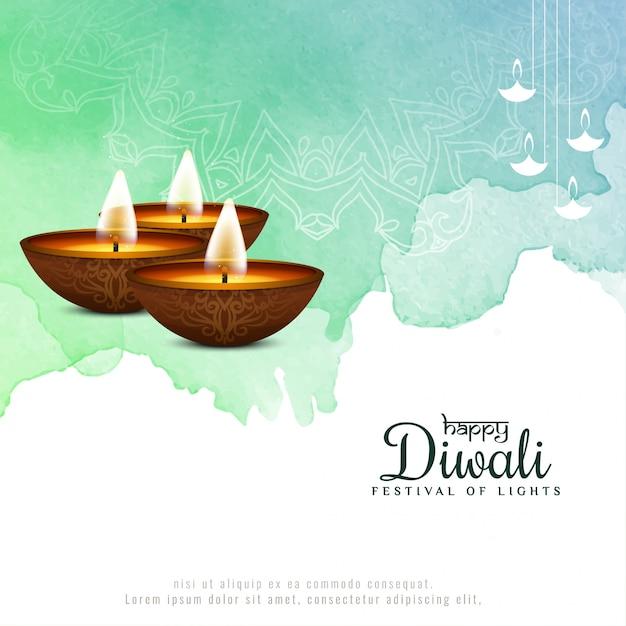 Felice diwali bellissimo sfondo festival religioso Vettore gratuito