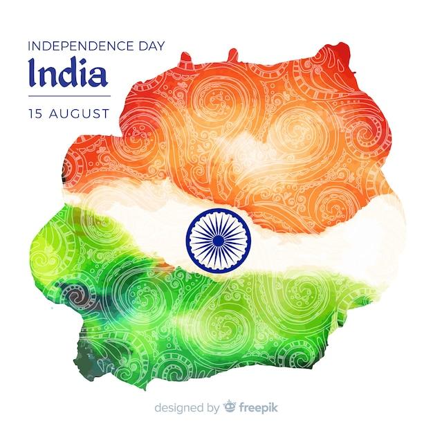 Felice festa dell'indipendenza indiana sfondo Vettore gratuito
