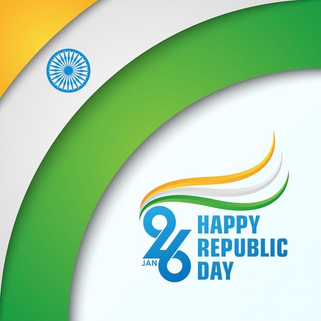 Felice festa della repubblica indiana Vettore Premium