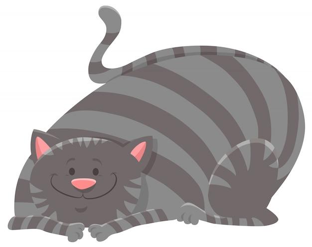 Felice gatto soriano personaggio dei cartoni animati degli animali
