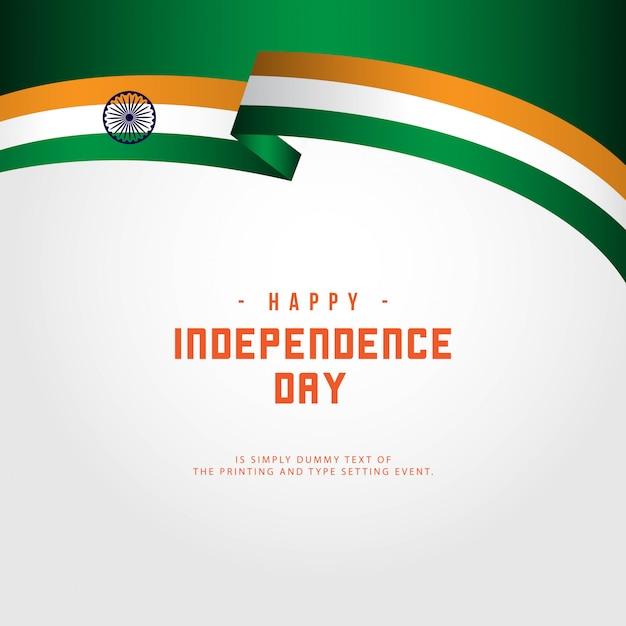 Felice giorno dell'indipendenza dell'india Vettore Premium