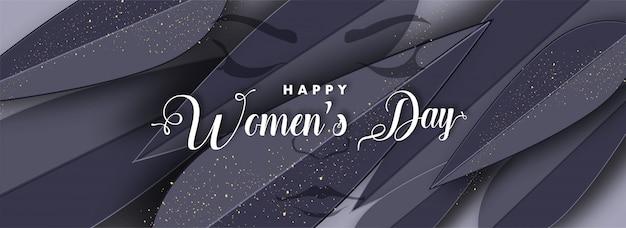 Felice giorno della donna sfondo. Vettore Premium