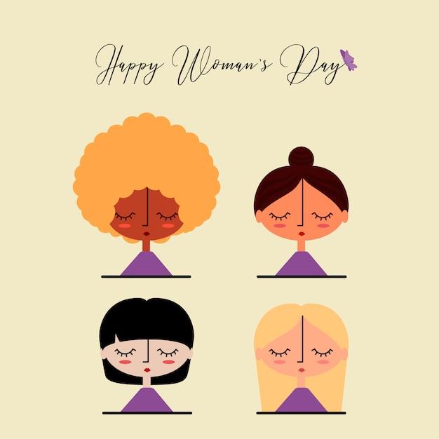 Felice giorno della donna Vettore gratuito