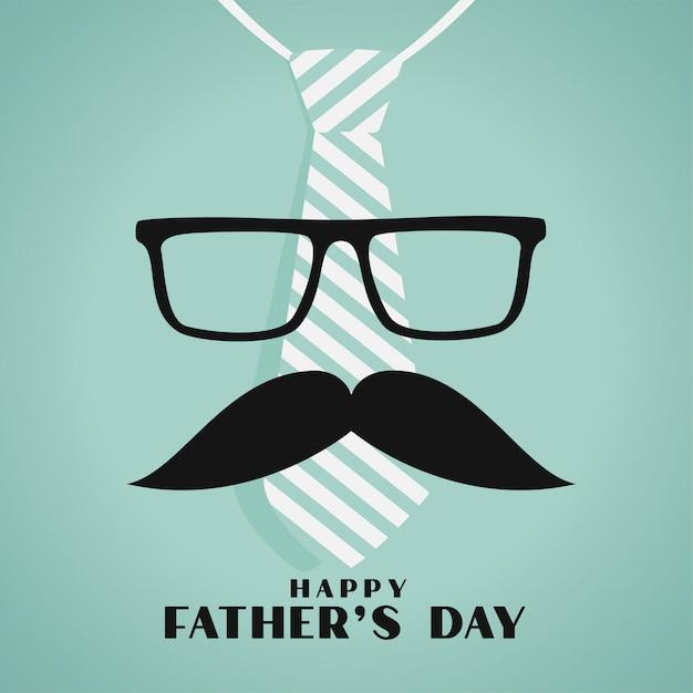 Felice giorno di padri saluto design in stile hipster Vettore gratuito