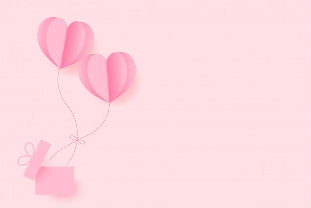 Felice giorno di san valentino auguri sfondo Vettore Premium
