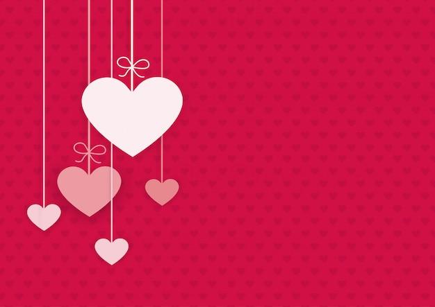 Felice giorno di san valentino carta Vettore Premium