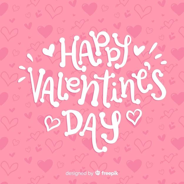 Felice giorno di san valentino lettering Vettore gratuito