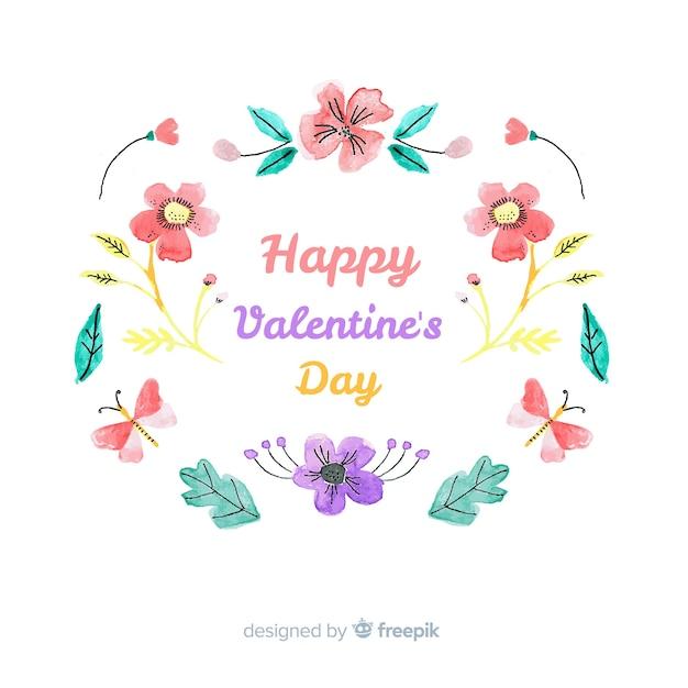 Felice giorno di san valentino sfondo Vettore gratuito