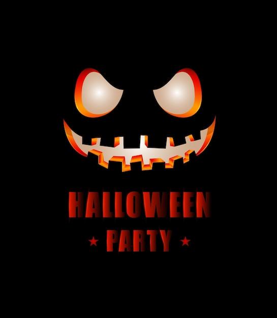 Felice halloween party design di testo Vettore Premium