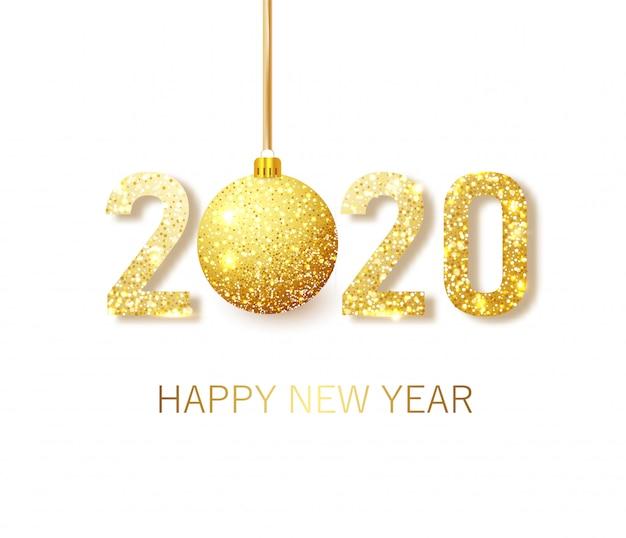 Felice nuovo anno 2020 Vettore Premium