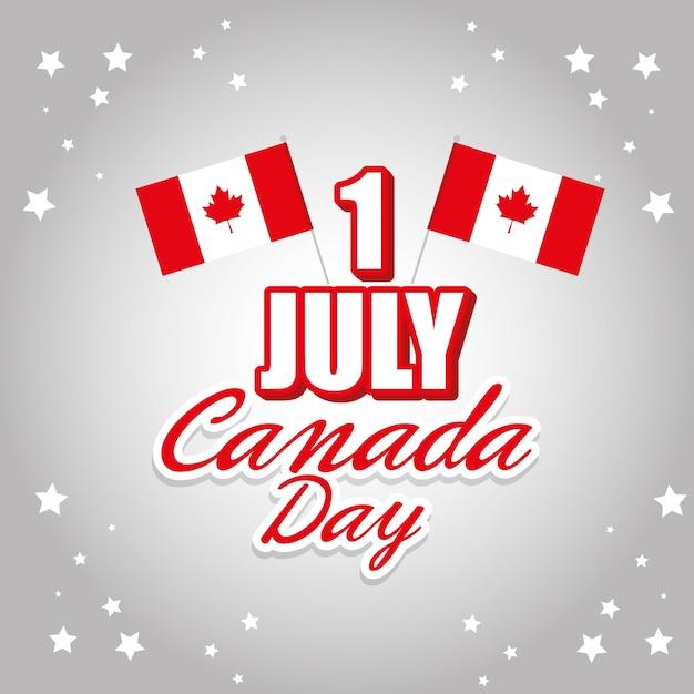 Felice poster celebrazione giornata canada Vettore Premium