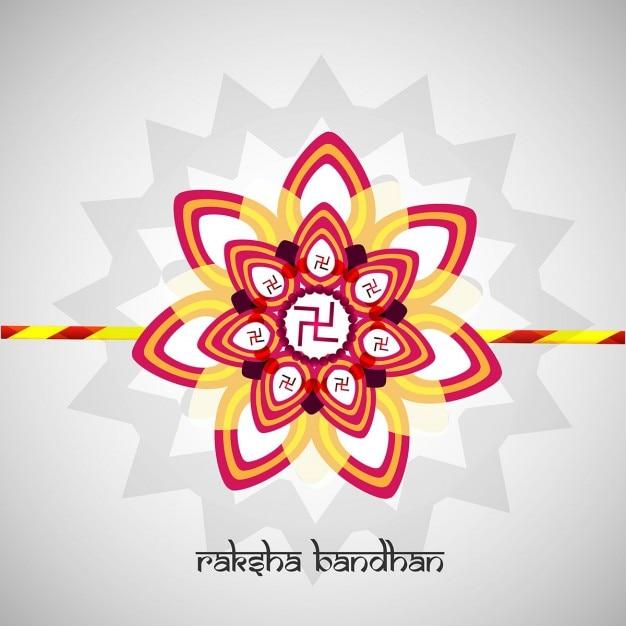 Felice raksha bandhan sfondo Vettore gratuito