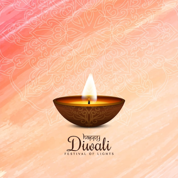Felice religioso diwali elegante Vettore gratuito