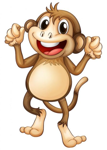 Felice scimmia che balla da sola Vettore gratuito