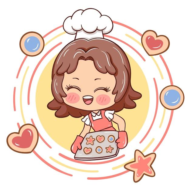 Female_baker Vettore Premium