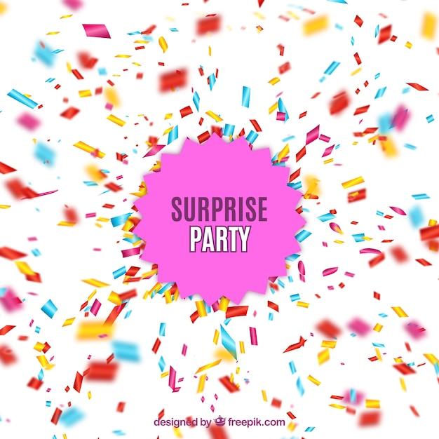 Eccezionale Festa a sorpresa con l'esplosione di coriandoli | Scaricare  SJ27