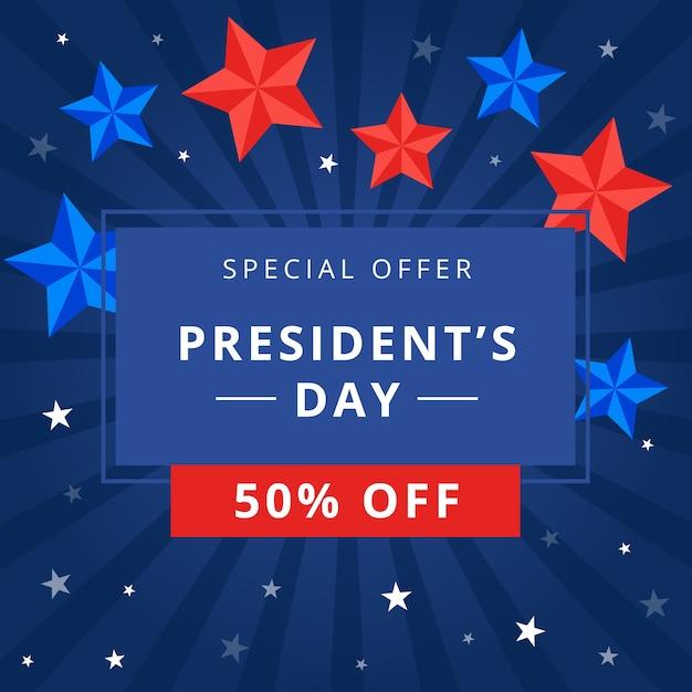 Festa del presidente con offerta speciale Vettore gratuito