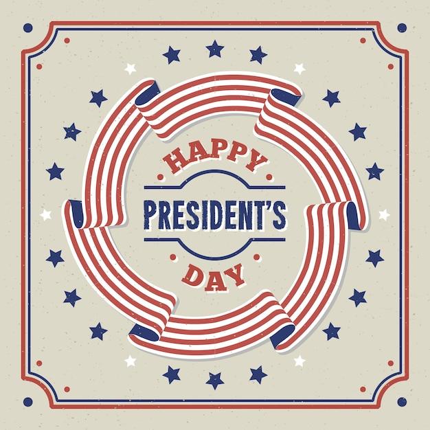 Festa del presidente vintage Vettore gratuito