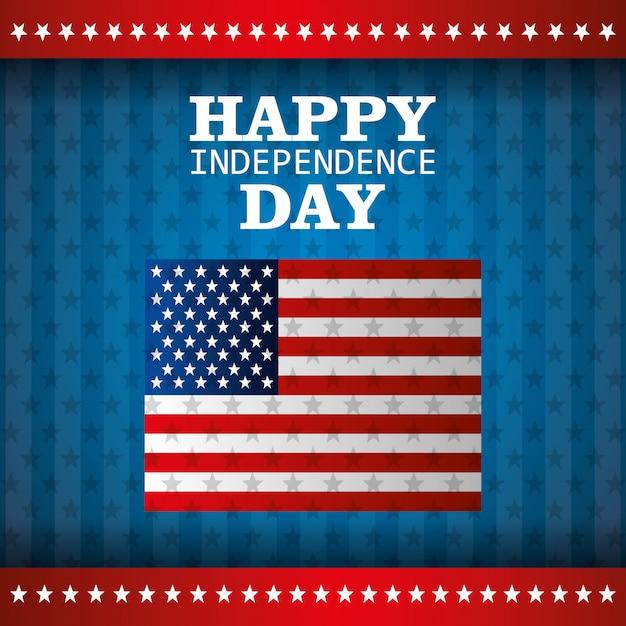 Festa dell'indipendenza 4 luglio celebrazione negli stati uniti d'america Vettore gratuito
