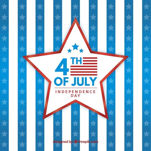 Festa dell'indipendenza americana con stella Vettore gratuito