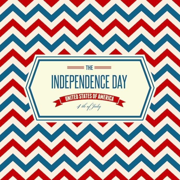 Festa dell'indipendenza americana sfondo patriottico Vettore Premium