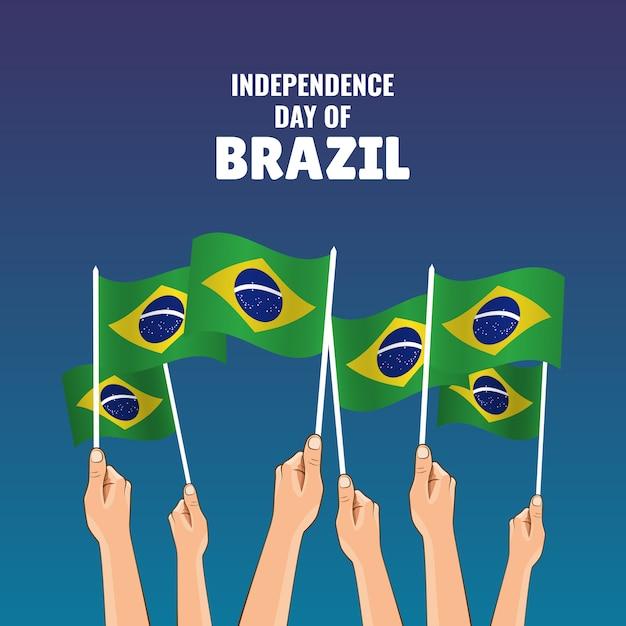 Festa dell'indipendenza del brasile. Vettore Premium