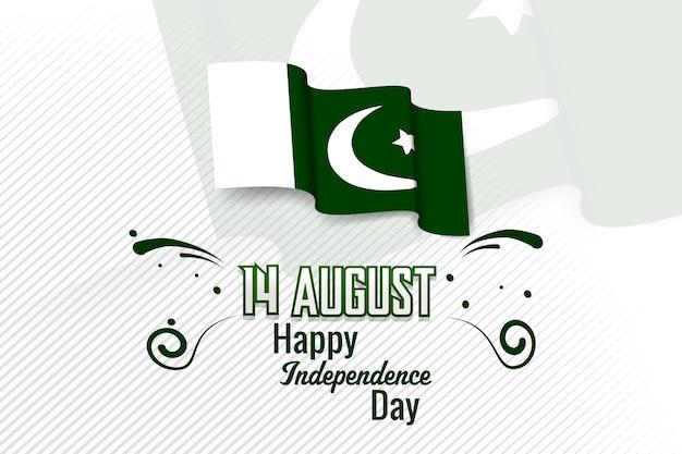 Festa dell'indipendenza del pakistan, 14 agosto Vettore Premium