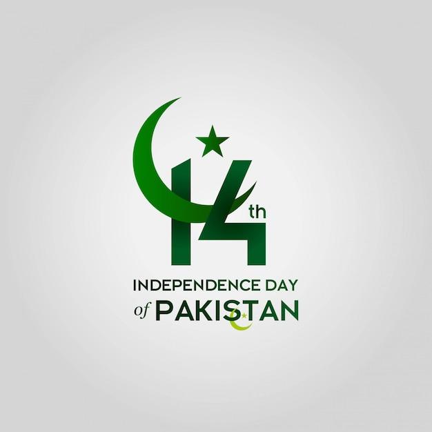 Festa dell'indipendenza del pakistan Vettore Premium