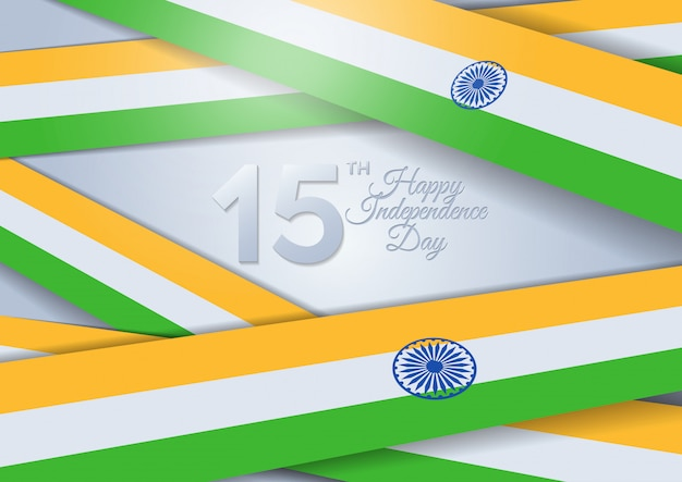 Festa dell'indipendenza dell'india. india. 15 agosto Vettore Premium
