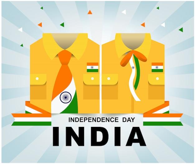 Festa dell'indipendenza dell'india Vettore Premium
