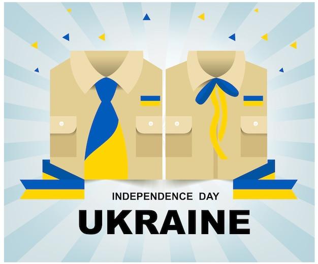 Festa dell'indipendenza dell'ucraina Vettore Premium